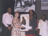 Receiving the Michael Manley Award 2006